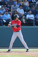 Michael Hoard (31) of the Arizona Wildcats bats during a game against the UCLA Bruins at Jackie Robinson Stadium on May 16, 2015 in Los Angeles, California. UCLA defeated Arizona, 6-0. (Larry Goren/Four Seam Images)