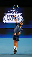 3rd January 2020; RAC Arena, Perth, Western Australia; ATP Cup Australia, Perth, Day 1, Russia versus Italy; Fabio Fognini of Italy serves during his match against Daniel Medvedev of Russia - Editorial Use