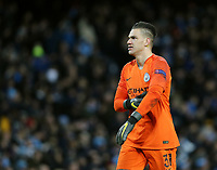 Manchester City's Ederson<br /> <br /> Photographer Rich Linley/CameraSport<br /> <br /> UEFA Champions League Round of 16 Second Leg - Manchester City v FC Schalke 04 - Tuesday 12th March 2019 - The Etihad - Manchester<br />  <br /> World Copyright &copy; 2018 CameraSport. All rights reserved. 43 Linden Ave. Countesthorpe. Leicester. England. LE8 5PG - Tel: +44 (0) 116 277 4147 - admin@camerasport.com - www.camerasport.com
