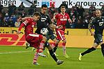 08.11.2019, RheinEnergieStadion, Koeln, GER, 1. FBL, 1.FC Koeln vs. TSG 1899 Hoffenheim,<br />  <br /> DFL regulations prohibit any use of photographs as image sequences and/or quasi-video<br /> <br /> im Bild / picture shows: <br /> Louis Schaub (FC Koeln #13),   im Zweikampf gegen  Benjamin Hübner / Huebner (Hoffenheim #21),   <br /> <br /> Foto © nordphoto / Meuter