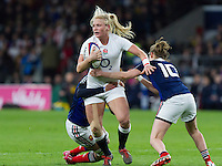 Alex Matthews in action, England Women v France Women in the 6 Nations at Twickenham Stadium, Twickenham, England, on 21st March 2015