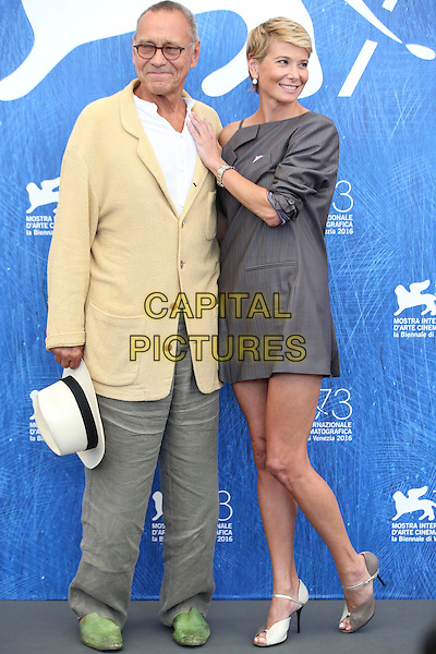 Director Andrei Konchalovsky and actress Julia Vysotskaya attend the photocall of the movie 'Paradise' presented in competition at the 73rd Venice Film Festival on September 8, 2016 at Venice Lido.<br /> CAP/GOL<br /> &copy;GOL/Capital Pictures