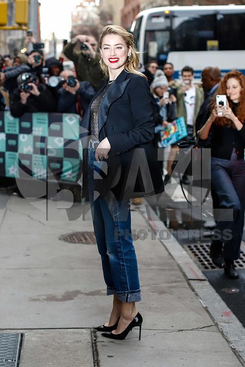 NOVA YORK, EUA, 03.12.2018 - CELEBRIDADES-EUA - A atriz norte-americana Amber Heard é vista no bairro do Soho na Ilha de Manhattan na cidade de Nova York nos Estados Unidos nesta segunda-feira, 03. (Foto: Vanessa Carvalho/Brazil Photo Press)