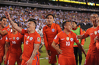 East Rutherford, NJ. -June 26, 2016: Chile defeated Argentina 4-2 in penalty kicks at the final match for Copa America Centenario USA 2016 at MetLife Stadium.