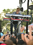 SUNRISE, FL - DECEMBER 21: Musicians Danny Wilkin of the band Rixton performs at Y100's Jingle Ball Village, Y100's Jingle Ball 2014 official pre-show at BB&T Center on December 21, 2014 in Sunrise, Florida.  (Photo by Johnny Louis/jlnphotography.com)