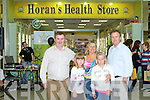 OPENING: Enjoying the fun at the opening of the new Dan Horan Health Food Store at Manor West shopping centre on Friday l-r: Dan Horan, Anastasiya Dauhavechnaya, Bridie Courtney, Hanna Panasevich Tany and Tahay O'Connor.