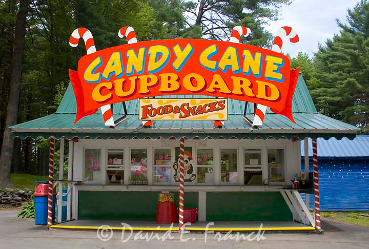 The Candy Cane Cupboard at Santa's Land USA in Putney, Vermont
