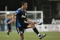San Jose Earthquakes midfielder Ramiro Corrales (12) controls the ball during the Colorado Rapids 2-1 victory over the San Jose Earthquakes at Buck Shaw Stadium in Santa Clara, California.