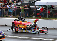 Jun 4, 2016; Epping , NH, USA; NHRA comp eliminator driver Lee Zane during qualifying for the New England Nationals at New England Dragway. Mandatory Credit: Mark J. Rebilas-USA TODAY Sports