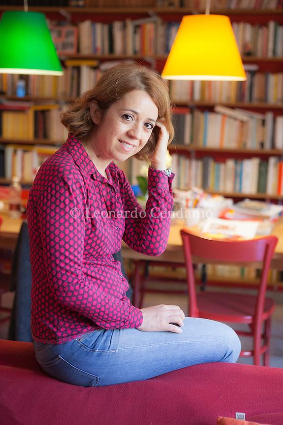 Claudia De Lillo alias Elasti, è una scrittrice, giornalista e conduttrice radiofonica italiana. Milano, venerdì 16 giugno 2016. © Leonardo Cendamo