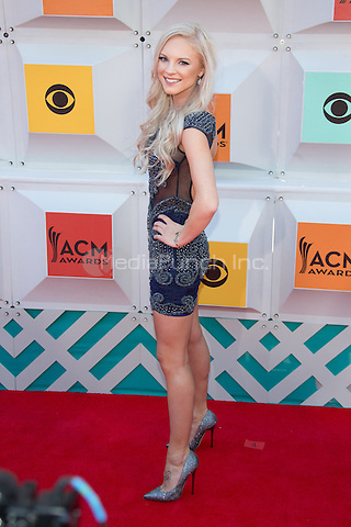 LAS VEGAS, NV - APRIL3: Kayla Adams arriving to the 51st Academy Of Country Music Awards at the MGM Grand Garden Arena in Las Vegas, Nevada on April 3, 2016. Credit: Erik Kabik Photography/MediaPunch