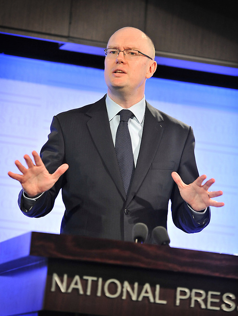 Lowy Executive Director Michael Fullilove speaks at the National Press Club, Canberra, 12th  March,  2014.  Photo: Mark Graham