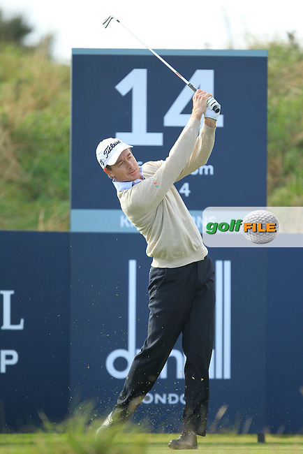 Brett Rumford (AUS) during Round 1of the Alfred Dunhill Links Championship at Kingsbarns Golf Club on Thursday 26th September 2013.<br /> Picture:  Thos Caffrey / www.golffile.ie