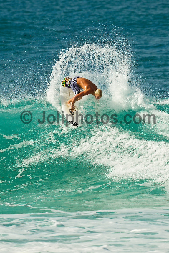 Haleiwa Hawaii, (Friday December 3, 2010) Nat Young (USA).  .Three to four foot north swell with strong North East Trade winds were the conditions for today's sessions at Off The Wall and Backdoor..Photo: joliphotos.com