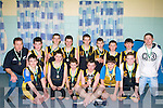 WINNERS: Currow boys basketball team who defeated St Brendan in the under 14 final in Cumann Ioseaf, Tralee on Sunday. Darragh Jones, Shane O'Connor, Sean O'Connor, Brian Daly, Luka Lawless, John McMahon, Padraig McMahon, Niall Reidy, Stephen Bouger, Finn Collier,Diarmuid McCarthy, James Nolan, ShaneO'Connor and coaches Joseph Daly and Jim O'Connor..........