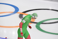 OLYMPIC GAMES: PYEONGCHANG: 19-02-2018, Gangneung Oval, Long Track, 500m Men, Ignat Golovatsiuk (BLR), ©photo Martin de Jong