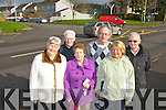 Residents from Ardshavooley, Killarney who are appealing to the council for a pedestrian crossing outside their estate as they can't cross the road due to the large volume of traffic l-r: Eileen O'Sullivan, Don O'Donoghue, Sheila Courtney, Michael Gleeson, Nellie Boggins and Denis O'Donoghue..