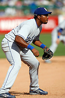 Hector Luna - Los Angeles Dodgers 2009 spring training.Photo by:  Bill Mitchell/Four Seam Images