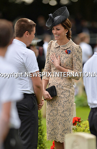 01.07.2016; Thiepval, France:  KATE MIDDLETON<br /> attends a service to commemorate the 100th anniversary of the beginning of the Battle of the Somme at the Commonwealth War Graves Commission Memorial in Thiepval, France<br /> Mandatory Photo Credit: &copy;MoD/NEWSPIX INTERNATIONAL<br /> <br /> IMMEDIATE CONFIRMATION OF USAGE REQUIRED:<br /> Newspix International, 31 Chinnery Hill, Bishop's Stortford, ENGLAND CM23 3PS<br /> Tel:+441279 324672  ; Fax: +441279656877<br /> Mobile:  07775681153<br /> e-mail: info@newspixinternational.co.uk<br /> Please refer to usage terms. All Fees Payable To Newspix International