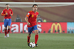 21 JUN 2010: Xavi (ESP) (8). The Spain National Team played the Honduras National Team at Ellis Park Stadium in Johannesburg, South Africa in a 2010 FIFA World Cup Group C match.