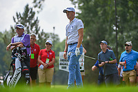 Justin Thomas (USA) watches his tee shot on 15 during 2nd round of the World Golf Championships - Bridgestone Invitational, at the Firestone Country Club, Akron, Ohio. 8/3/2018.<br /> Picture: Golffile | Ken Murray<br /> <br /> <br /> All photo usage must carry mandatory copyright credit (© Golffile | Ken Murray)