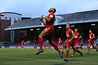 O's Jamie Turley heads the winner past keeper Petr Jameson to make it 1.0 and celebrates during Leyton Orient vs Blyth Spartans, Buildbase FA Trophy Football at The Breyer Group Stadium on 2nd February 2019