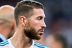 Sergio Ramos of Real Madrid looks on after the Santiago Bernabeu Trophy 2017 match between Real Madrid and ACF Fiorentina at the Santiago Bernabeu Stadium on 23 August 2017 in Madrid, Spain. Photo by Diego Gonzalez / Power Sport Images