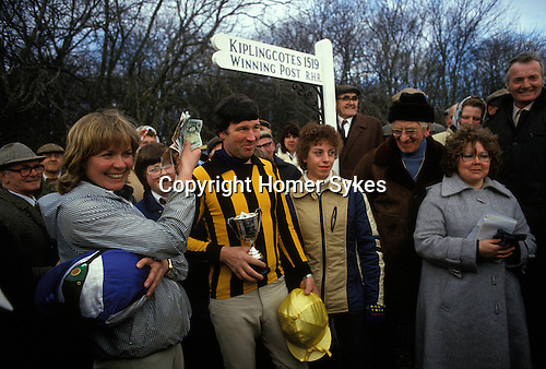 Kiplingcotes Derby Yorkshire 1970s. The world oldest horse race in the English sporting calendar. Started in 1519, and takes place on the third Thursday in March annually. Kiplingcotes is a small hamlet near Market Weighton.