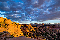Rock fins above Mill Creek Canyon, Utah. Proposed La Sal Waters Wilderness, Near Moab