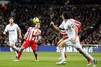 Xabi Alonso and Radamel Falcao during La Liga Match. December 01, 2012. (ALTERPHOTOS/Caro Marin)