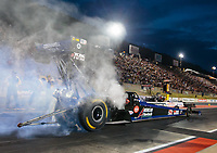Jul 20, 2018; Morrison, CO, USA; NHRA top fuel driver Jim Maroney during qualifying for the Mile High Nationals at Bandimere Speedway. Mandatory Credit: Mark J. Rebilas-USA TODAY Sports