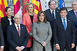Uxue Barkos, president of Navarra, Cristina Cifuentes, president of Madrid and Susana Diaz, president of Andalucia, during the meeting with the Presidents of 17 autonomous governments at the Senate in Madrid, January  17, 2017. (ALTERPHOTOS/Rodrigo Jimenez)