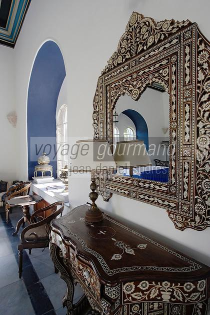 Asie/Israël/Judée/Jérusalem: Hotel American Colony- détail decoration d'un salon