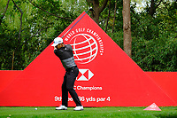 Xander Schauffele (USA) on the 9th green   during the 1st round at the WGC HSBC Champions 2018, Sheshan Golf Club, Shanghai, China. 25/10/2018.<br />
