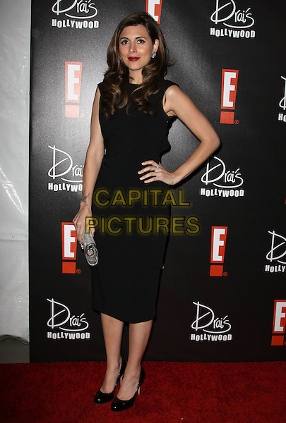 JAMIE LYNN SIGLER.E! Oscar Viewing And After Party held At Drai's at The W Hotel, Hollywood, California, USA..March 7th, 2010.full length dress hand on hip silver clutch bag black sleeveless  .CAP/ADM/KB.©Kevan Brooks/AdMedia/Capital Pictures.