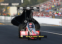 Mar 16, 2014; Gainesville, FL, USA; NHRA top fuel driver Doug Kalitta during the Gatornationals at Gainesville Raceway Mandatory Credit: Mark J. Rebilas-USA TODAY Sports