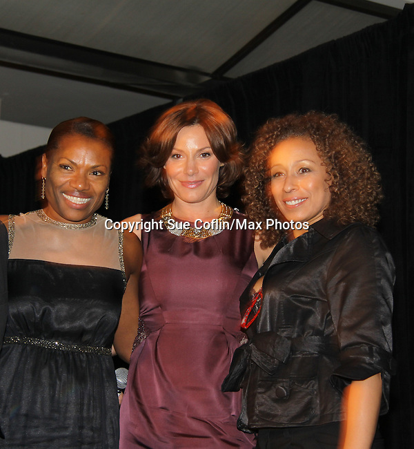 "Deb Koenigsberger - Countess LuAnn de Lesseps - Tamara Tunie at The Fourteenth Annual Hearts of Gold Gala ""Hooray for Hollywood!"" - with its mission to foster sustainable change in lifestyle and levels of self-sufficiency for homeless mothers and their children on October 28, 2010 at the Metropolitan Pavillion, New York City, New York. (Photo by Sue Coflin/Max Photos)"