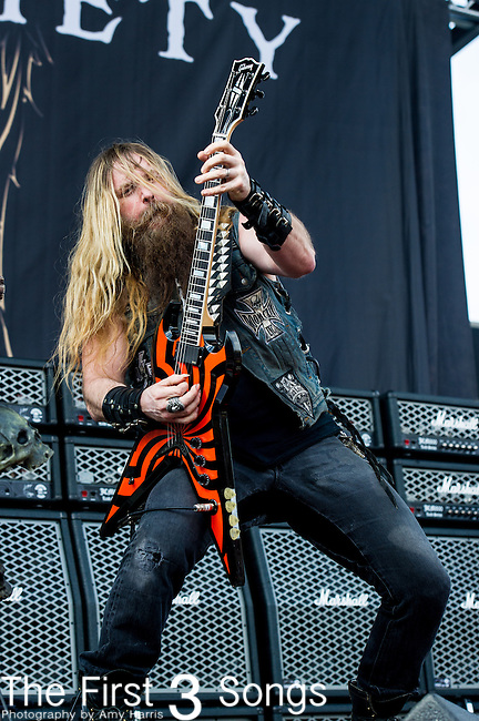 Zakk Wylde of Black Label Society performs during the 2014 Rock On The Range festival at Columbus Crew Stadium in Columbus, Ohio.