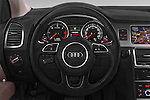 Car pictures of steering wheel view of a 2015 Audi Q7 - 5 Door Suv 2WD Steering Wheel