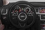 Car pictures of steering wheel view of a 2015 Audi Q7 - 5 Door Suv 2WD Steering Wheel