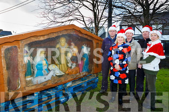 Launching the Christmas festive season in Ardfert were Jeremiah Clifford, Barbara O'Grady, Pat Murphy, Thomas Leen  Grainne Kavanagh