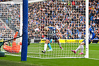 Neal Maupay of Brighton and Hove Albion scores the first goal during Brighton & Hove Albion vs Tottenham Hotspur, Premier League Football at the American Express Community Stadium on 5th October 2019