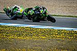 Jerez Circuit. Jerez de la Frontera. 03.05.2014. The rider Pol Espargaro and Alvaro Bautista during official MotoGP Grand Prix in Jerez.