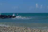 The stunning surf on the beach at Ft. Zachary Taylor State Park in Key West, Florida.