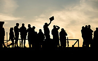 Picture by Allan McKenzie/SWpix.com - 10/05/2018 - Rugby League - Ladbrokes Challenge Cup - Featherstone Rovers v Hull FC - LD Nutrition Stadium, Featherstone, England - Fans, supporters, silhouette.