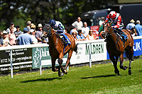 Winner of The Whitsbury Manor Stud British EBF Blagrave Maiden Stakes Forseti ridden by Oisin Murphy and trained by Andrew Balding  during Whitsbury Manor Stud Bibury Cup Day Racing at Salisbury Racecourse on 27th June 2018