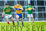 Wayne Gutrie Kerry shows good control under pressure from keelan Sexton Clare in the McGrath cup at Fitzgerald Stadium on Sunday