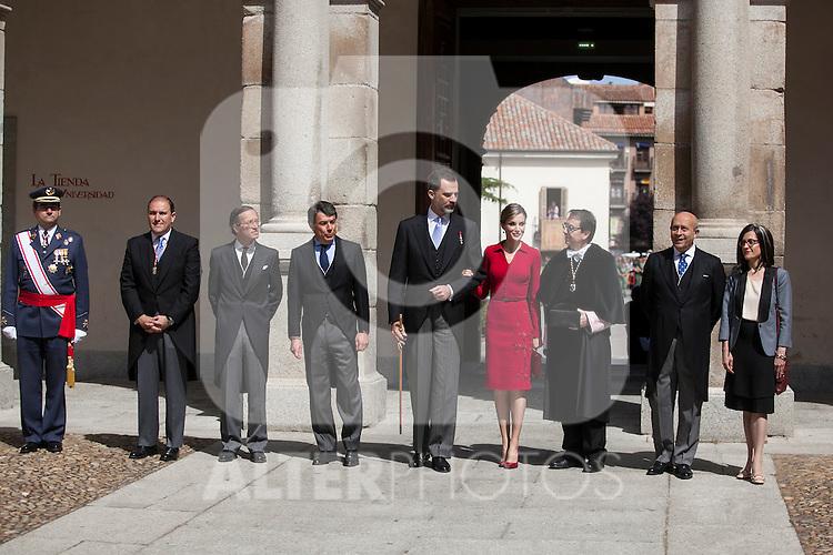 Spanish Royals King Felipe VI of Spain and Queen Letizia of Spain attend `2014 Cervantes Award´ at Alcala de Henares University in Alcala de Henares, Spain. April 23, 2015. (ALTERPHOTOS/Victor Blanco)