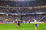 Solna 2014-10-09 Fotboll EM-kval , Sverige - Ryssland :  <br /> Vy &ouml;ver Friends Arena med publik p&aring; l&auml;ktarna under matchen mellan Sverige och Ryssland<br /> (Photo: Kenta J&ouml;nsson) Keywords:  Sweden Sverige Friends Arena EM Kval EM-kval UEFA Euro European 2016 Qualifier Qualifiers Qualifying Group Grupp G Ryssland Russia supporter fans publik supporters inomhus interi&ouml;r interior