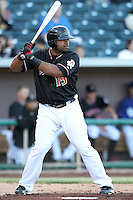 Corey Smith #15 of the Albuquerque Isotopes plays in a Pacific Coast League game against the Omaha Storm Chasers at Isotopes Park on May 3, 2011  in Albuquerque, New Mexico. .Photo by:  Bill Mitchell/Four Seam Images.